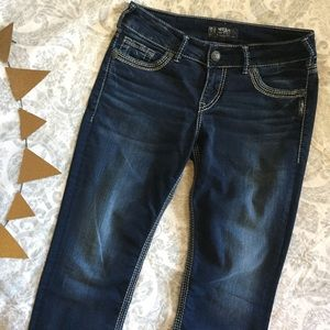 Like new! Silver Jeans Co. Suki straight leg jeans